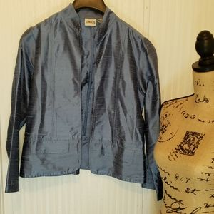Chico's Blue Jacket Top Size 1
